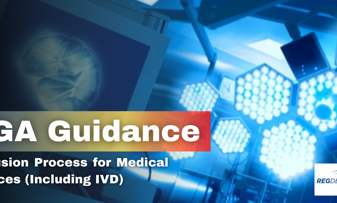 TGA Guidelines on Inclusion Process for Medical Devices (Including IVD)