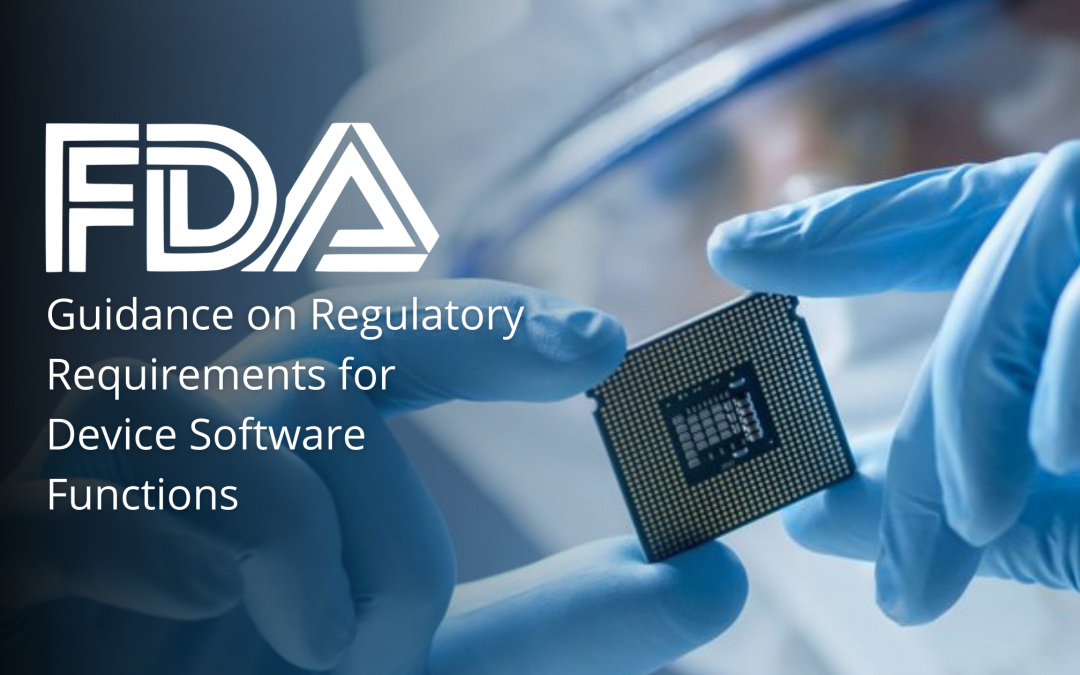 FDA Guidance on Regulatory Requirements for Device Software Functions