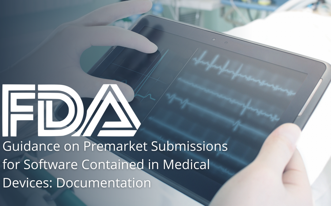 FDA Guidance on Premarket Submissions for Software Contained in Medical Devices: Documentation